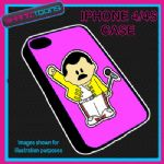 FITS IPHONE 4 / 4S PHONE FREDDIE QUEEN PLASTIC COVER PINK
